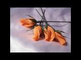 Бутон розы из гофрированной бумаги своими руками