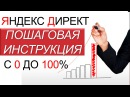 Настройка Яндекс Директ. Пошаговая Инструкция с 0 до 100. Контекстная реклама