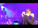Robbie Williams and Ewan McGregor singing Angels at the Unicef Halloween Ball