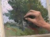 Anita Louise West teaching Plein Air Pastel Landscape painting