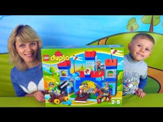 Lego Замок и малыш Даник с мамой - Видео для детей с конструктором Лего и Даником