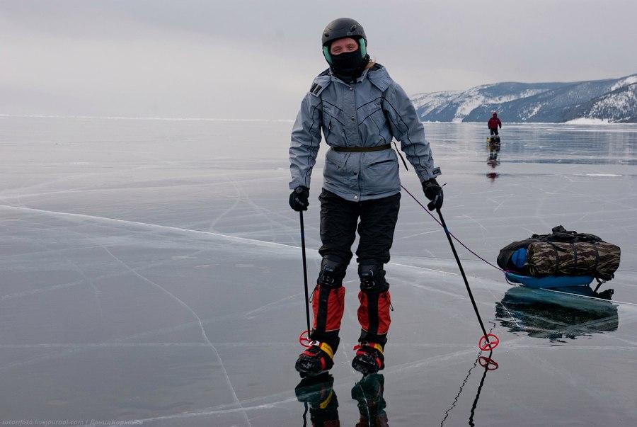зимняя рыбалка на коньках