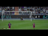 Real - Barcelona. Ronaldo goal from the middle (Реал - Барса. Гол Ронадлу с центрального кольца)