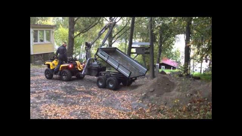 Nokka Forest Pro 4WD ATV trailer