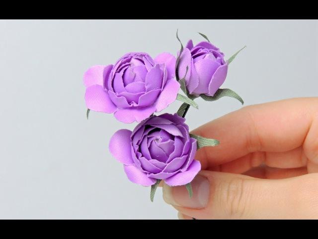 Цветы розы из ткани своими руками Tavifa