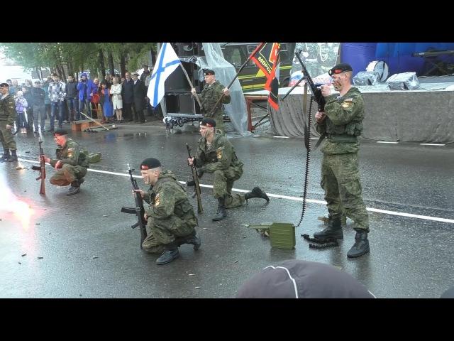 Выступление морской пехоты. Апатиты 07.06.2015