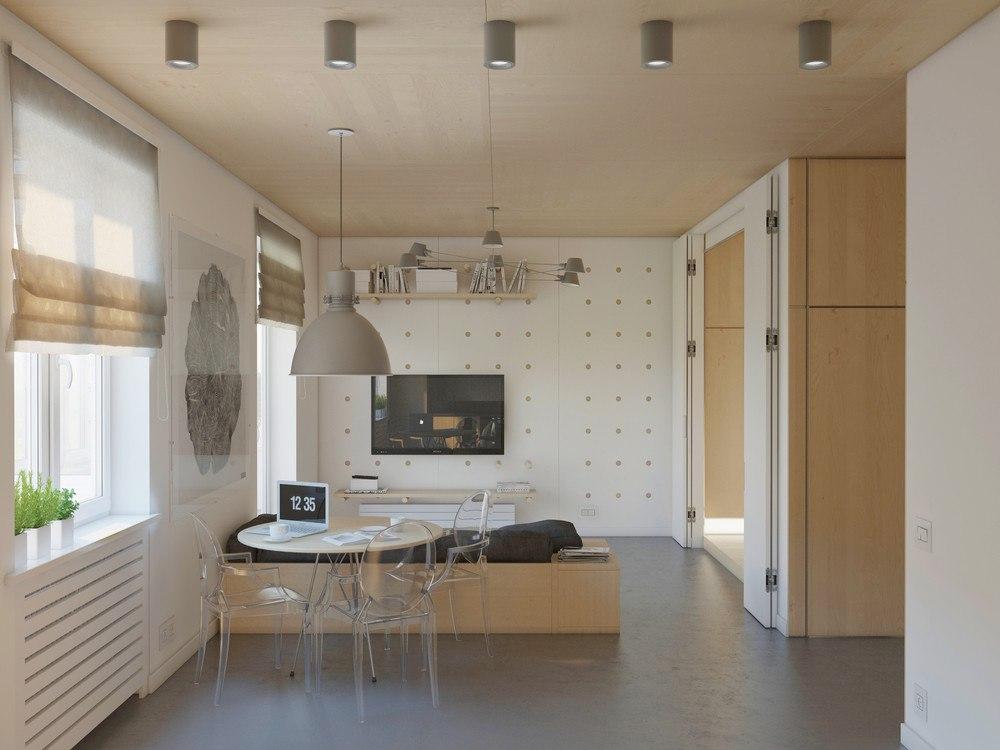 Эко-интерьер квартиры без точного метража.