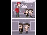 Какими были времена в детстве у Стэнфорда и Стенли ...(Комикс с озвучкой.).