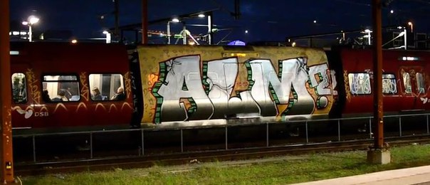 graffiti train copenhagen