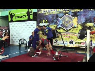 687 Новак Александр. ПОПЫТКА. Становая тяга 235 кг . Кубок Украины 2015 (UPC)