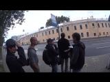 Съёмки клипа Тучи в Питере. Остановка на Загородном просп. ActionCamera
