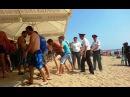 Драка на пляже в Ростовской обл. Наезд на людей, репортаж А. Коваленко для ААА61 идея AutoAny