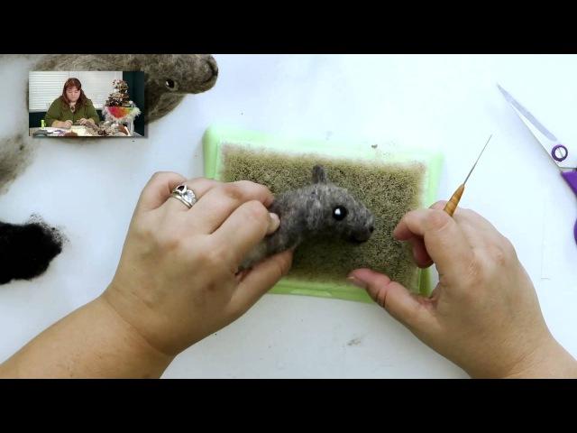 DIY Needle Felted Sheep