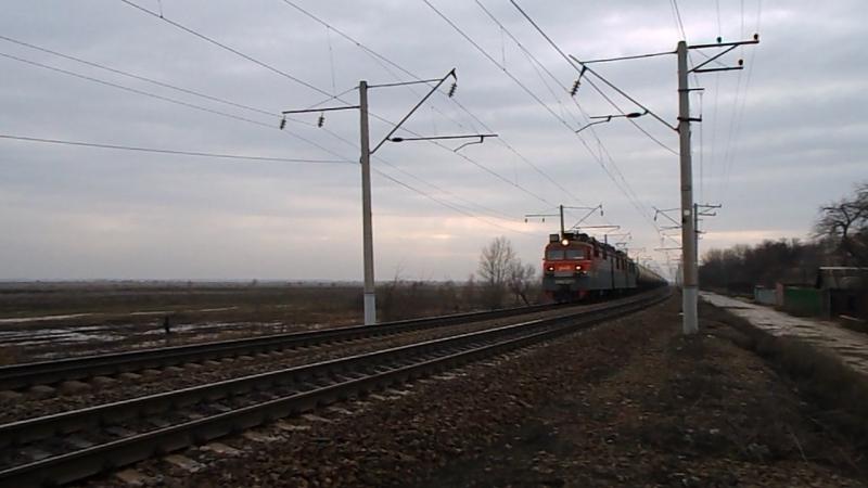 ВЛ80С-2570/2602 (ТЧЭ-6 Батайск), перегон Кизитеринка-Александровка, 14 февраля 2016 года.