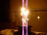 дуга в лампочке при её сгорании! Лампа 40Вт 230В СТБ
