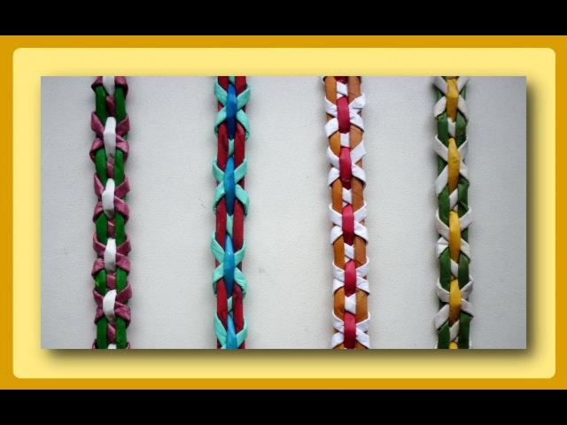 Плетение полосок из трубочек - Часть 2 / Weave the strips of paper tubes - Part 2