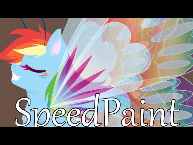 MLP Speedpaint - Rainbow Dash Breezie