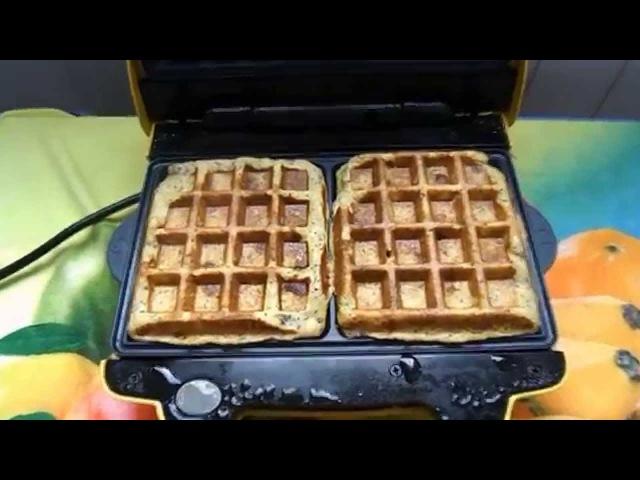Полезные вафли Healthy waffles recipe
