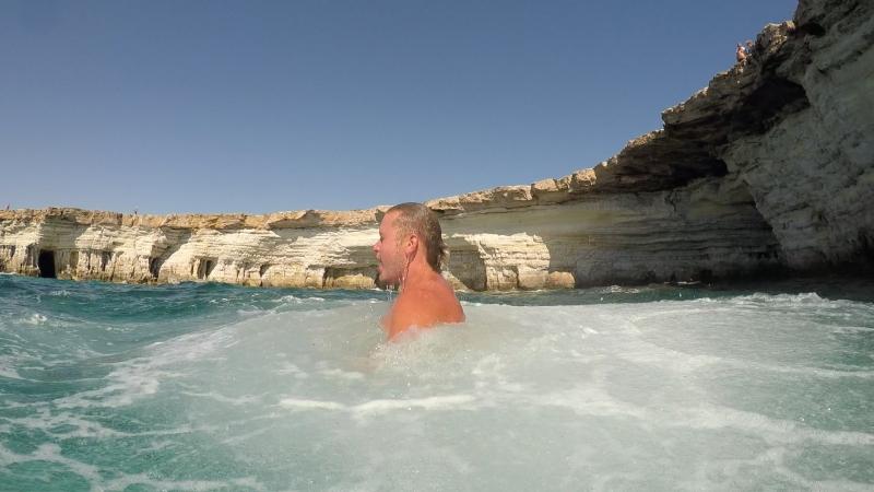 Капо Греко пещеры Айя Напа. Ayia Napa Clivs jumping Cavo Greco