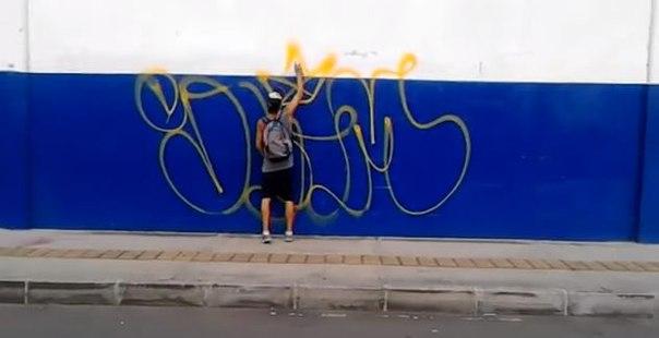 colombia graffiti bombing
