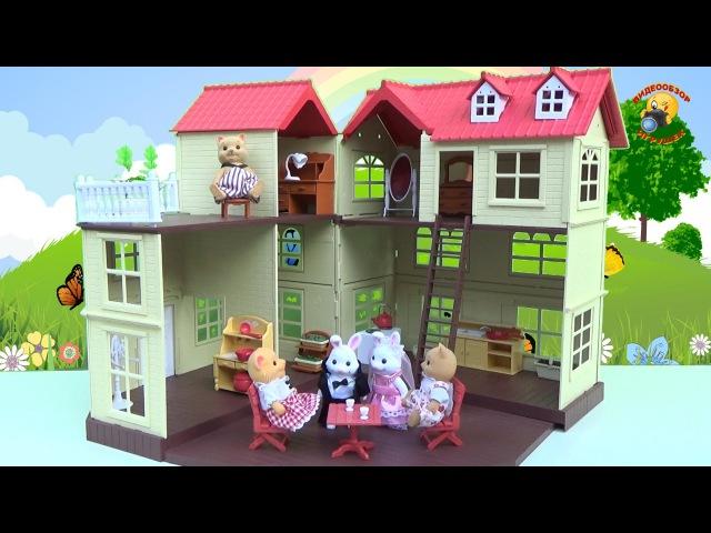 Трехэтажный домик Happy Family (аналог Sylvanian Families) обзор игрушек для девочек