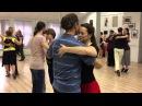 Class Javier Diaz y Elvira Malishevskaya. Walz