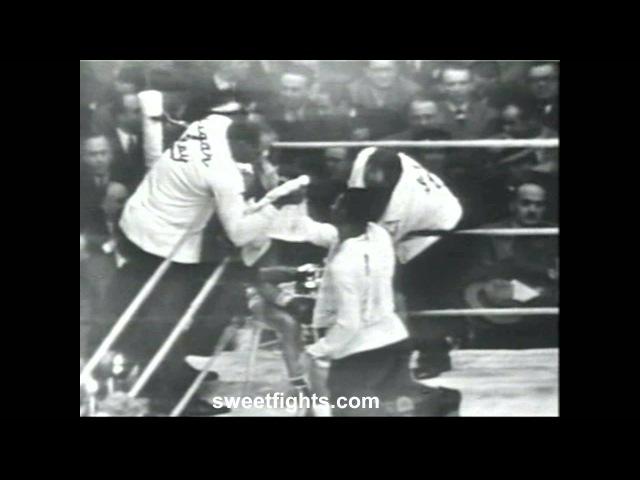 Sugar Ray Robinson Beats and KNOCKS OUT Jake LaMotta KO