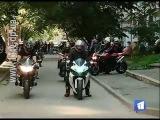 В Днепропетровске простились с байкерами, которые погибли в ДТП на Новом мосту
