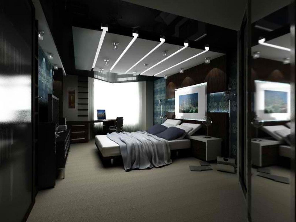 Дизайн комнаты темный