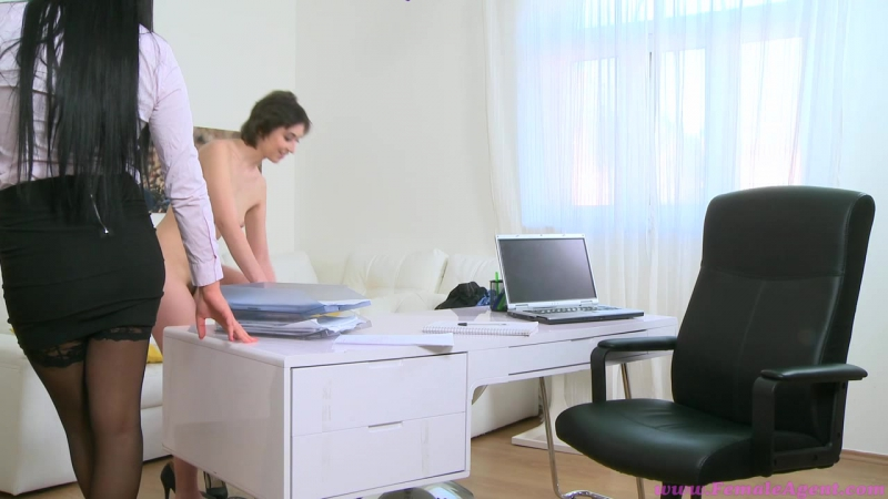 Hairy pussy gets fucked by dildo