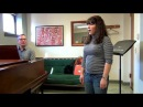 Daniel Carberg teaching a soprano