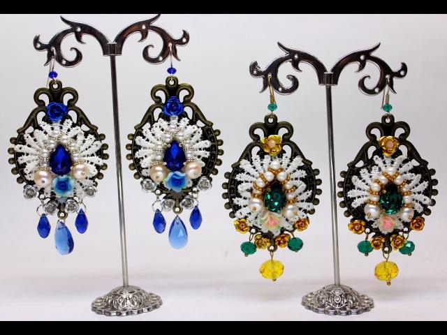 Как сделать серьги барокко в стиле Дольче Габбана Мастер класс Dolce Gabbana D G