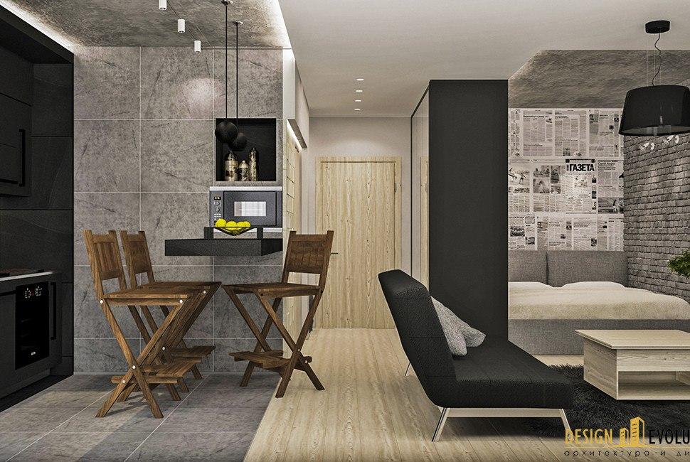 Концепт и реализация: квартира 34 м.