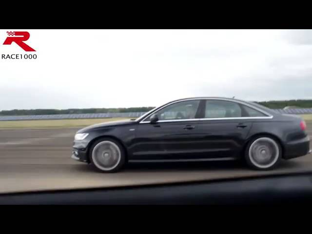 Audi S6 C7 ECU vs Mercedes AMG E63 4matic 60 250kmh DRAG RACE