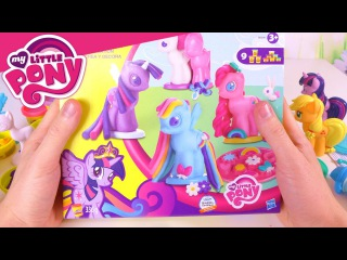 Обзор Play-Doh МАЙ ЛИТЛ ПОНИ. Лепим ПОНЯШЕК из пластилина Плей ДО!