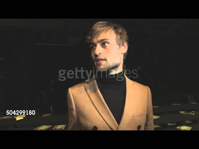 Douglas Booth on his reaction to the Topman Design show