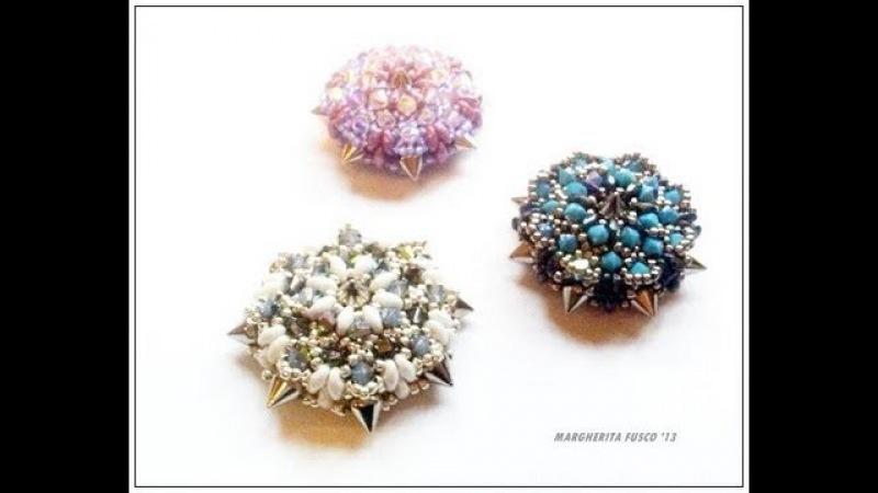 Tutorial come fare un ciondolo Calipso con perline cristalli swarovski e spikes