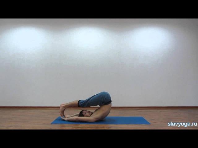Халасана (випарита дханурасана, поза плуга) 💎 Йога для начинающих ⚡ Асаны йоги ⭐ SLAVYOGA