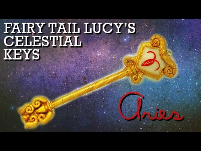Aries | How to Make: Lucy's Celestial Key (Gate Key) from Fairy Tail | Polymer Clay