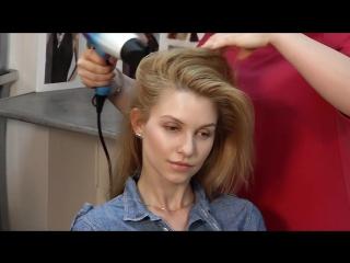Как создать прикорневой объём во время укладки волос