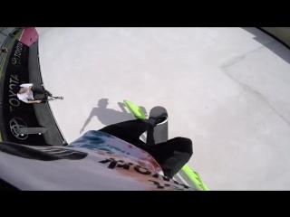 X Games 2015: превью трассы Skateboard Street. GoPro держат Leticia Bufoni и Curren Caples