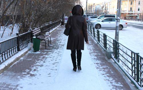 Горожане жалуются на чистые тротуары Якутска