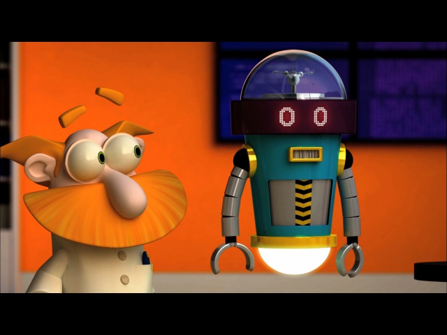 Лаборатория гения. Многосерийные мультфильмы. Мультик про изобретателя. Идеальный робот (18 серия)
