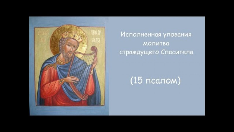 Исполненная упования молитва страждущего Спасителя. 15 псалом