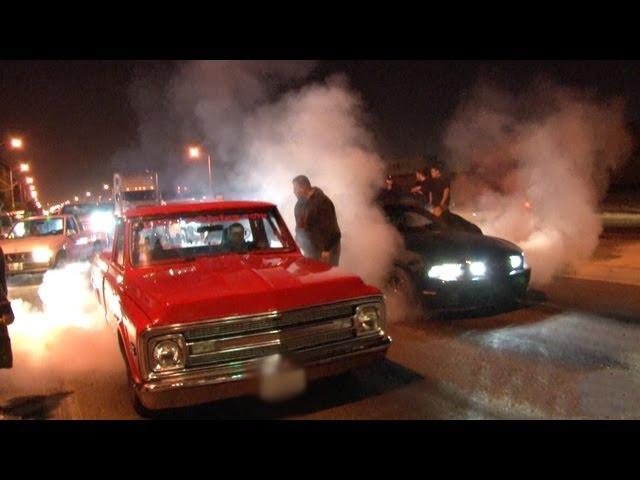 L.A. Street Racing - 1000hp Nitrous C10 vs 700hp Mustang