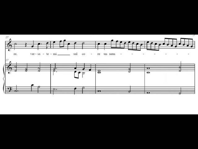 Quel sguardo sdegnosetto (C. Monteverdi) Score Animation