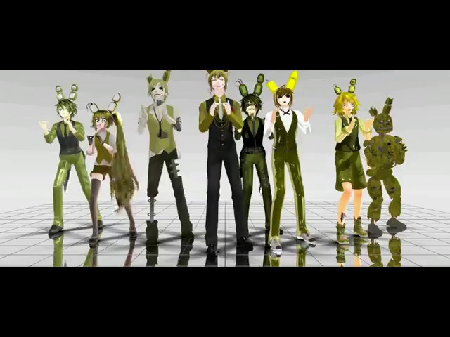 [MMD X five nights at freddy's 3] Too many Springtrap model's