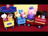 Свинка Пеппа Дедушкин Паровозик обзор игрового набора + мультик из игрушек на русском