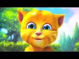 Прикол очень смешно Рыжик дурачится и пукает смешной котенок, забавный кот, котик, кошка