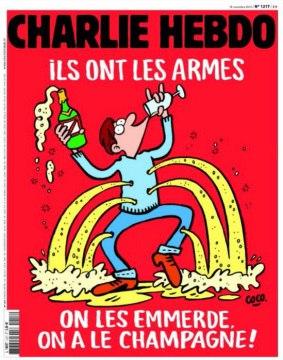 Charlie Hebdo опубликовал новую карикатуру на теракты в Париже